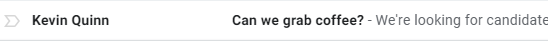 recruiting email subject lines
