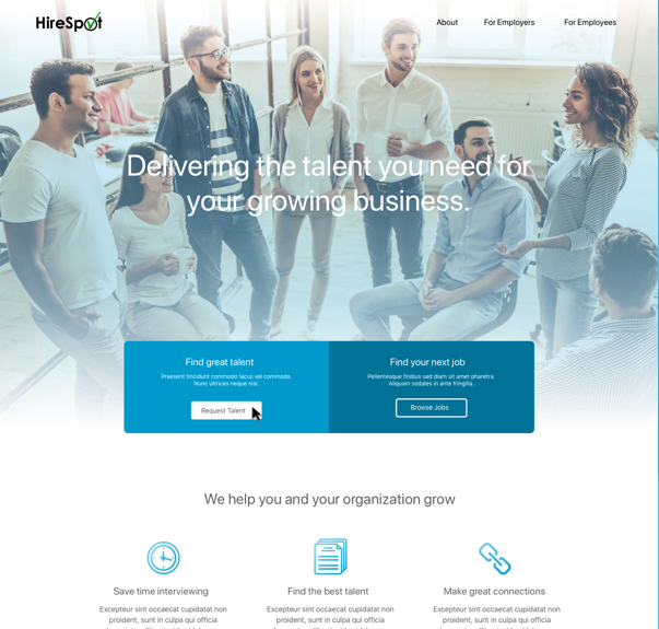 recruitment marketing website example